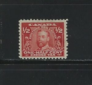 CANADA REVENUE - #FX2 - 1/2c KING GEORGE V EXCISE TAX MINT STAMP MH