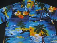 Ali'l Fashions Mens Hawaiian Aloha Button Front Short Sleeve Shirt Medium M