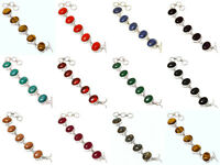 Garnet Mix Silver Plated Free Postage Cuff Jewelry 15Pcs