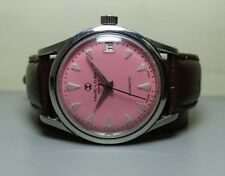 VINTAGE Favre Leuba Geneve Daymatic Auto Mens Wrist Watch Antique H95 used old