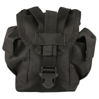 NEW Military Style Tactical Survival MOLLE 1 qt Canteen Cover Pouch SWAT BLACK