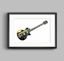 James Hetfield's Gibson Les Paul Iron Cross guitar POSTER PRINT A1 size