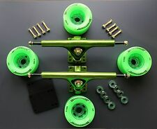 SpeedThron  Trucks Longboard 270mm  Setup Green poliert  Rollen 76mm 78A ABEC9