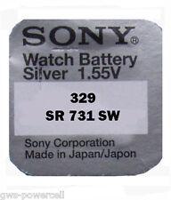 1 x Sony Uhrenbatterie V329 SR731SW 1,55V V 329 SR731 Knopfzelle Silberoxid