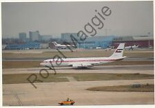Colour print of UAE Government Boeing 707 3L6B A6-HPZ at Heathrow in 1992