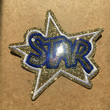 1pc Star Embroidered Cloth Iron On Patch Applique Gold Silver Sequin #945