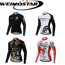 Weimostar 2020 Cycling Jersey Tops Team Bike Shirt Long Sleeve Bicycle Clothing