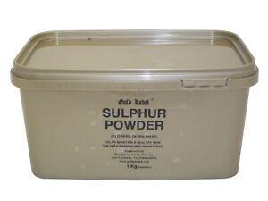 Gold Label Sulphur Powder Sublimed flowers of sulphur, the purest form availa...