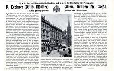 R.Lechner Fabrik photograph.Apparate Hof-Manufaktur Wien Histor.Werbung von 1910