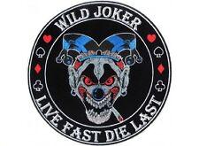"""(F20) WILD JOKER LIVE FAST DIE LAST 4"""" iron on patch (4651) Biker vest"""