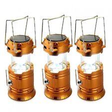 5800-T Rechargeable Solar Camping Lantern (Orange) Set of 3