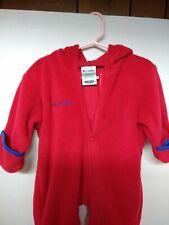 Boys Girls Infant Red Columbia Vertex Fleece Snowsuit Jester Hood Sz 12M Euc