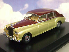 OXFORD 1/43 ROLLS ROYCE PHANTOM V 5 JAMES YOUNG BURGUNDY/SILVERSAND (PALE GOLD)