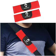 2Pcs Red High Quality Car Seat Belt Shoulder Cover Pad Fit For Renault  Auto