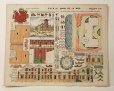 Pellerin Imagerie D'Epinal-No 305 Villa Au Bord de la Mer G. vintage paper model