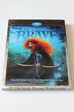 Disney Pixar Brave Scotland Animated Family Movie Blu-ray 2D 3D DVD Digital Copy