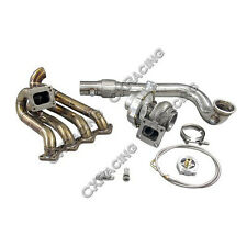 CXRacing T67 T4 Turbo Charger Kit Top Mount Manifold For Civic D15 D16 D-Series