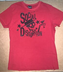 Vintage Social Distortion Tee T-SHirt Size S Small Punk Rockabilly Mike Ness