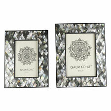 Gauri Kohli Rushmore Mother of Pearl Picture Frames (Twin Pack)