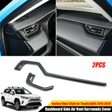 Carbon Fiber Dashboard Side Air Vent Surrounds Cover For Toyota RAV4 2019 2020