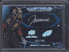 JEREMY MACLIN 2009 UD BLACK ON CARD RAVENS MISSOURI ROOKIE AUTO RC #D 107/199