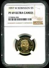 1997-W $5 Proof Jackie Robinson Gold Commemorative PF69 UCAM NGC 2728856-006