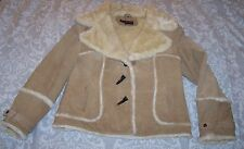 Steve Madden Womans Fur Lined Leather Button Jacket -  Sz XXL - Ex cond