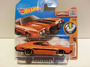 Voiture Mattel Hot Roues DHR33 '72 Ford Grande Torino Sport Orange 1/64
