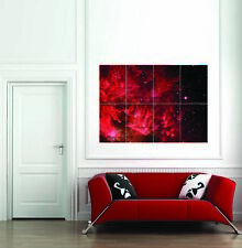 Red Far Away Galaxy Space Giant Wall Art Print Home Decor Poster