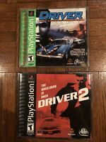 Driver 1 and 2  (Sony PlayStation 1, 1999+2000) Lot Ps1 CIB Complete Set