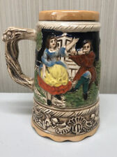 Vintage German style Beer Stein Music Box in Bottom Plays Music When Lifted Up
