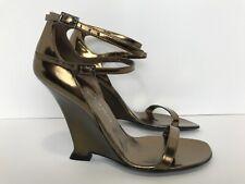Yves Saint Laurent Tom Ford size 38 EU Italy size 7.5 US Bronze Wedge Heel Rare