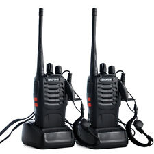 2 x BaoFeng Walkie Talkie UHF BF-888S 2-Way Radio 400-470MHZ 16CH With Earphone