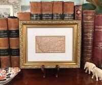 Framed Original 1886 Antique Map MONTANA Helena Missoula Billings Great Falls