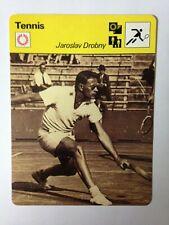 CARTE EDITIONS RENCONTRE 1977 / TENNIS - JAROSLAV DROBNY