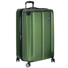 Valise de voyage 4 roues Chariot 77cm 113L COQUE RIGIDE TSA vert + sac courses