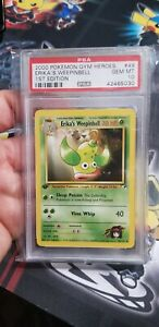 Pokemon 1st Edition Erika's Weepinbell Gym Heroes 49/132, PSA 10 Gem Mint Pop 19
