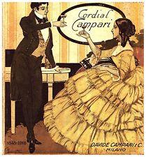 PUBBLICITA' 1916 CORDIAL CAMPARI 1848 -1916 BRINDISI LIBERTY DRINK BAR  COCKTAIL