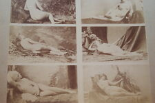 CALAVAS ETUDE DE NUS  TIRAGE ALBUMINE ALBUMEN VINTAGE PRINT 1880 PEINTURE ref32