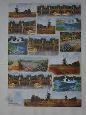 papier découpage technique serviette (thème: peintre Monet) 68X48cm