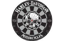 Harley Davidson Skull Bristle Steel Tip Dartboard DW-61972 w/ FREE Shipping