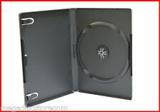 New 30 Pk 14mm Black Single DVD Storage Case Premium Machinable Box Hold 1 Disc