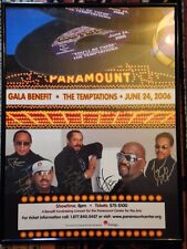 THE TEMPTATIONS-Group SIGNED Framed Poster Print! Gala Benefit-Paramount 2006