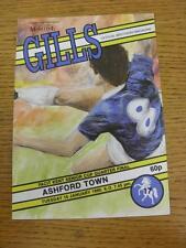 16/01/1990 Gillingham v Ashford Town [Kent Senior Cup] . Item in very good condi