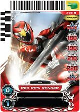 POWER RANGERS CARD GUARDIANS OF JUSTICE : Red RPM Ranger 051 X 4