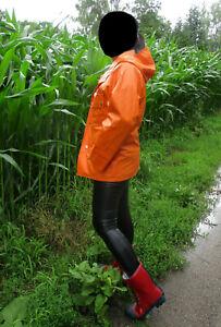 Helly Hansen Regenjacke Segeljacke PVC Gummi Mantel Regenmantel Rubber Raincoat