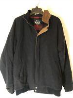 Vtg Woolrich Wool Navy Flannel Lined Field Barn JacketCoat Shell USA Mens L/XL