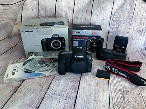 Canon EOS 5D Mark II 21.1 MP DSLR Camera - Black (Body Only) + Battery Grip