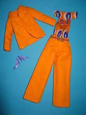 (32) edad vintage BARBIE mod traje de pantalón cuello de cisne-overall #3208 mattel 1973