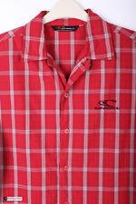 O'Neill Uomo Manica Corta Regular Camicia Casual Rosso Taglia M